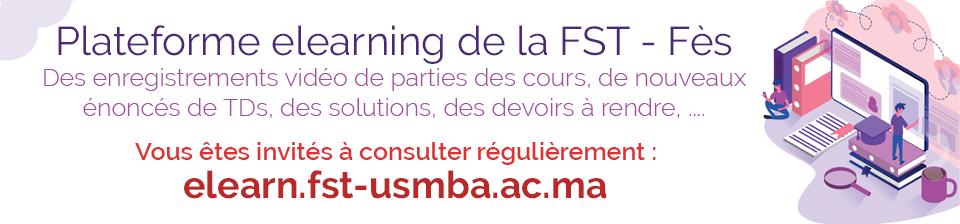 Plateforme e-learning de la FST Fès